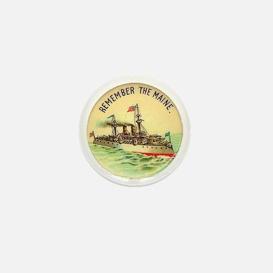 Remember the Maine Mini Button