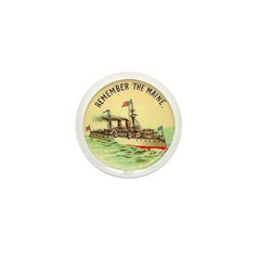 Remember the Maine Mini Button (10 pack)