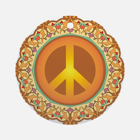 Peace Sign Ornament (Round)
