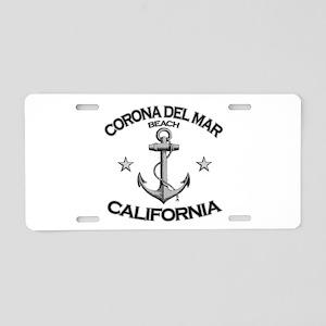 Corona Del Mar Beach, California Aluminum License