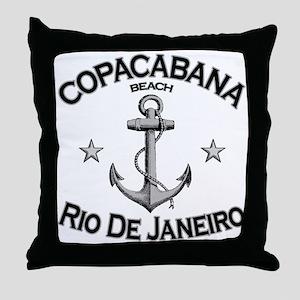 Copacabana, Rio De Janeiro Throw Pillow
