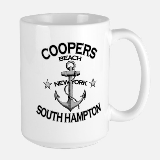 Coopers Beach, South Hampton, NY Large Mug