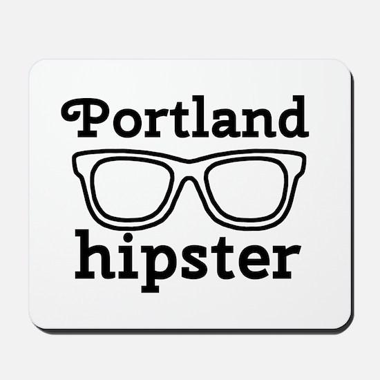 'Portland Hipster' Mousepad