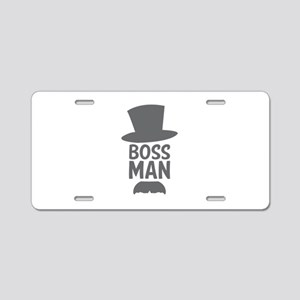 Boss Man Aluminum License Plate