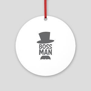 Boss Man Ornament (Round)