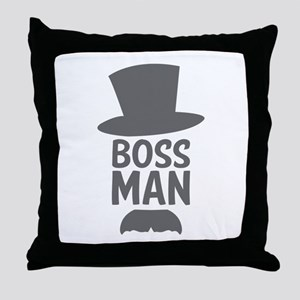 Boss Man Throw Pillow