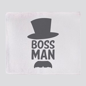 Boss Man Throw Blanket