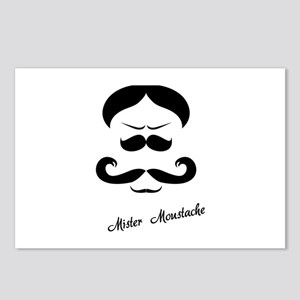 Mister Moustache Postcards (Package of 8)