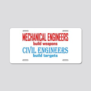 Mechanical vs. Civil Aluminum License Plate
