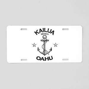 Kailua Beach, Oahu, HI Aluminum License Plate