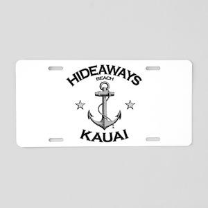 Hideaways Beach, Kauai Aluminum License Plate