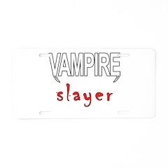 Vampire slayer Aluminum License Plate