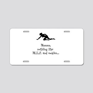 Snack Time Aluminum License Plate