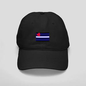 Leather Flag Black Cap