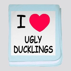 I heart ugly ducklings baby blanket