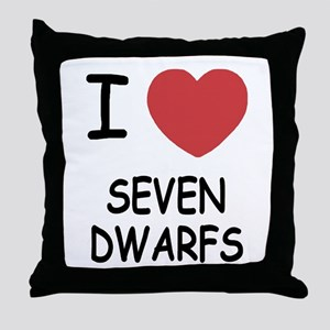 I heart seven dwarfs Throw Pillow