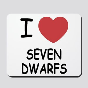 I heart seven dwarfs Mousepad