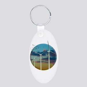 Wind Turbines Painted Sky Keychains