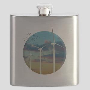 Wind Turbines Painted Sky Flask