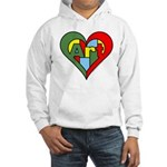 Art Heart Hooded Sweatshirt