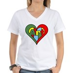 Art Heart Women's V-Neck T-Shirt