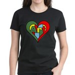 Art Heart Women's Dark T-Shirt