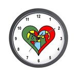 Art Heart Wall Clock