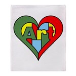 Art Heart Throw Blanket