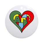Art Heart Ornament (Round)