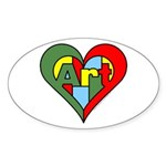 Art Heart Sticker (Oval 50 pk)