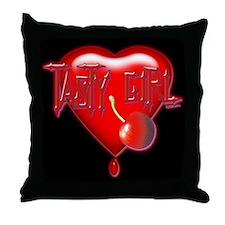 Tasty Girl Throw Pillow