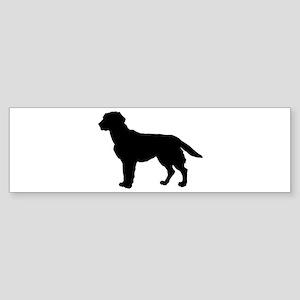 Labrador Retriever Silhouette Sticker (Bumper)