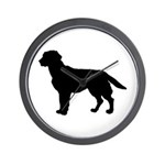 Labrador Retriever Silhouette Wall Clock
