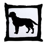 Labrador Retriever Silhouette Throw Pillow