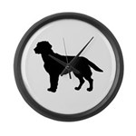 Labrador Retriever Silhouette Large Wall Clock