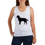 Labrador Retriever Silhouette Women's Tank Top