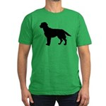 Labrador Retriever Silhouette Men's Fitted T-Shirt