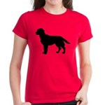 Labrador Retriever Silhouette Women's Dark T-Shirt