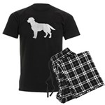 Labrador Retriever Silhouette Men's Dark Pajamas