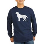 Labrador Retriever Silhouette Long Sleeve Dark T-S
