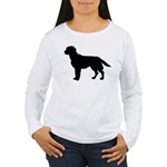 Labrador Retriever Silhouette Women's Long Sleeve