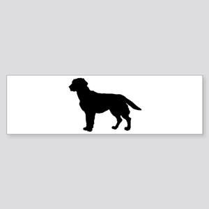 Labrador Retriever Silhouette Sticker (Bumper)