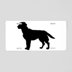 Labrador Retriever Silhouette Aluminum License Pla