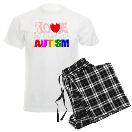 I love my autistic friend Men's Light Pajamas