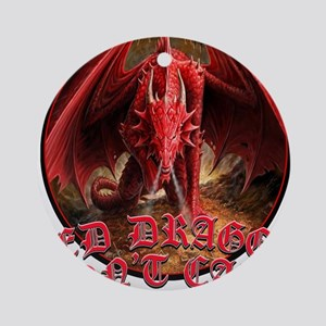 Dragon Don't Care Ornament (Round)