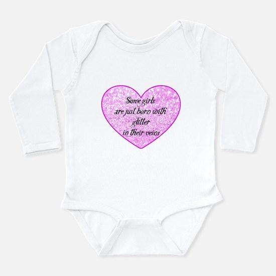 Girl Glitter Long Sleeve Infant Bodysuit