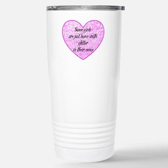 Girl Glitter Stainless Steel Travel Mug