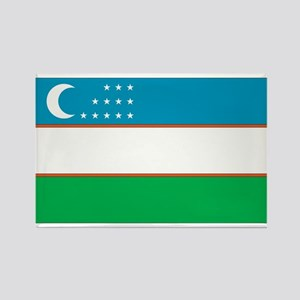Uzbekistan Rectangle Magnet