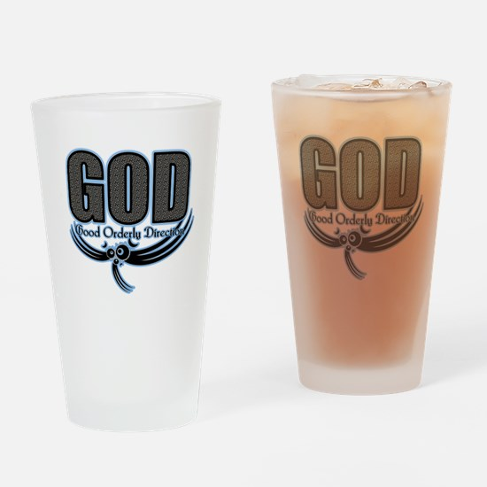 good orderly direction (GOD) Drinking Glass