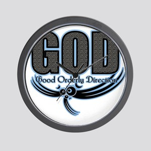 good orderly direction (GOD) Wall Clock